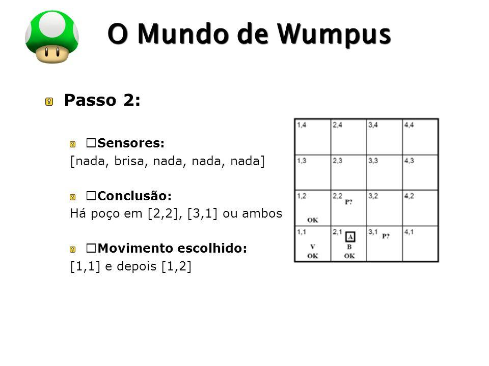 """O Mundo de Wumpus Passo 2: """"Sensores: [nada, brisa, nada, nada, nada]"""